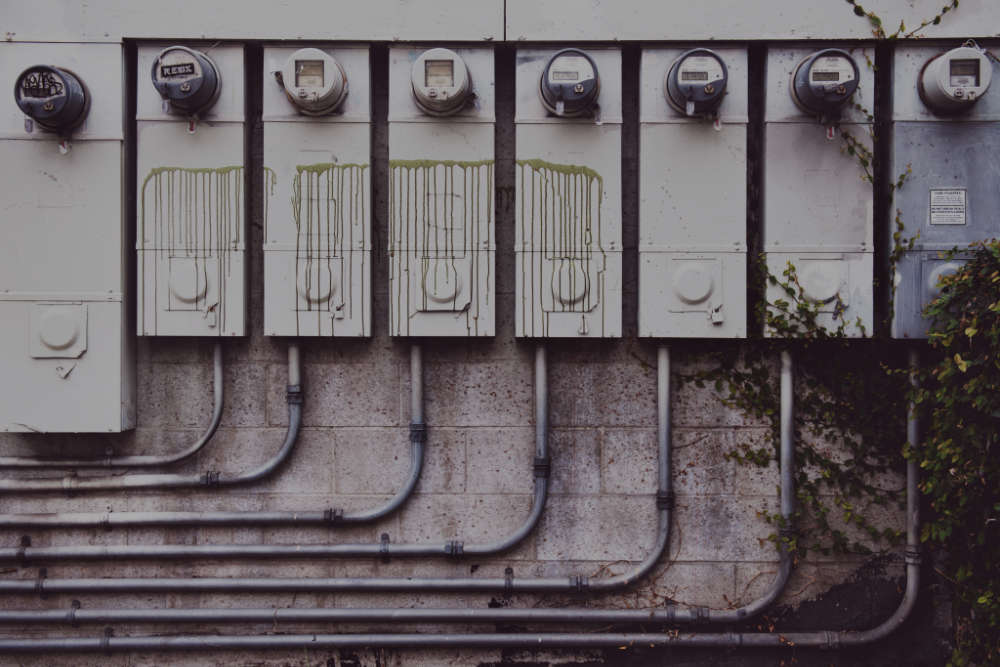 Eight Electricity Meters