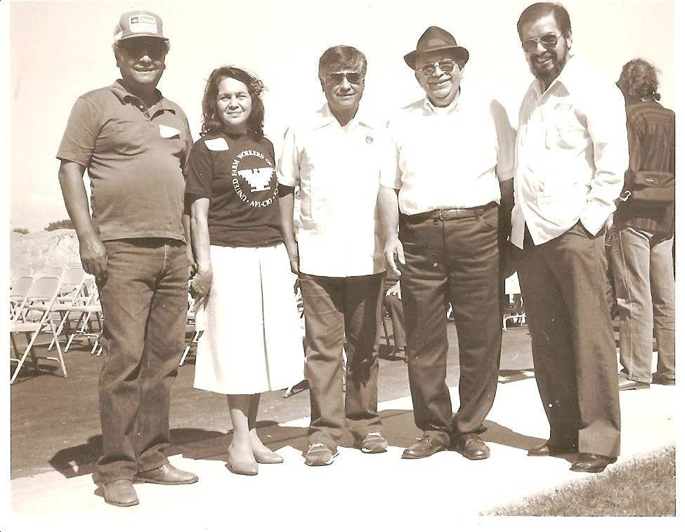 Ceasar Chavez and Four Friends